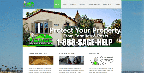 New Sage Exterminators website2