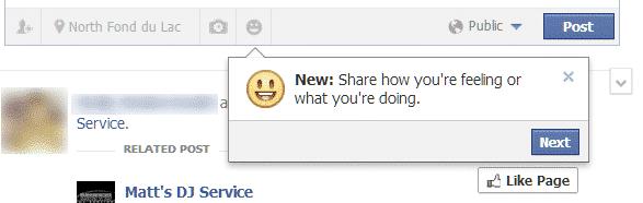 The new Facebook Feelings
