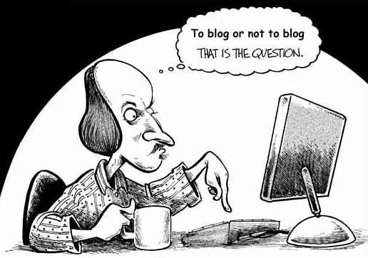 The answer is - To Blog