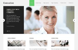 Executive Theme for the WordPress Genesis Framework (Green)