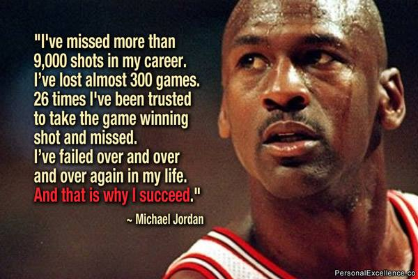 Michael Jordan on Failing