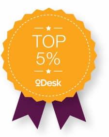 oDesk Top 5 percent badge