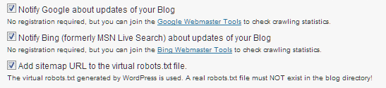 Auto-submission to Search Engines