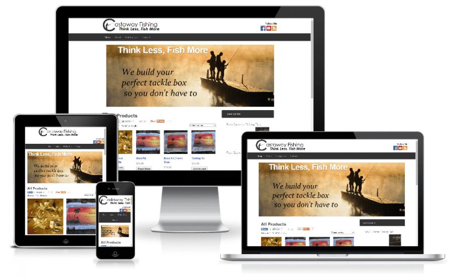 Castaway Fishing Kits - Mobile Responsive