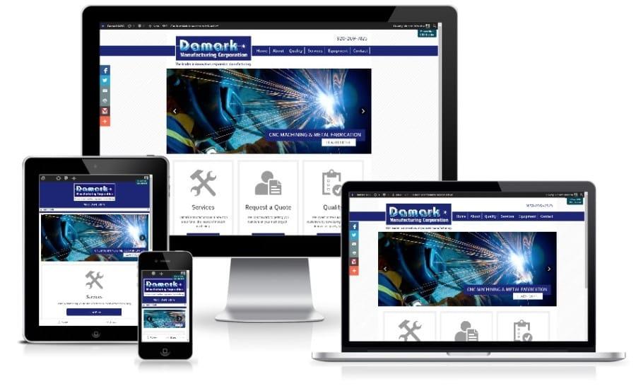 Damark Manufacturing - Mobile Responsive