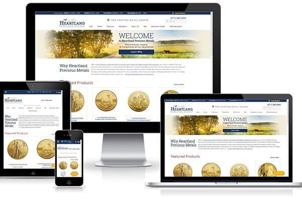 HeartlandPreciousMetals---Mobile-Friendly-eCommerce-website