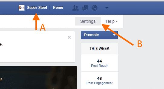 Give FB admin - Step 2