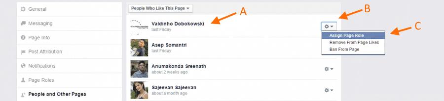 Give FB admin - Step 5