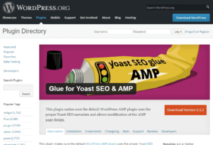 Glue for Yoast SEO and AMP plugin.