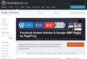 PageFrog Facebook Instant Articles & Google AMP Pages.