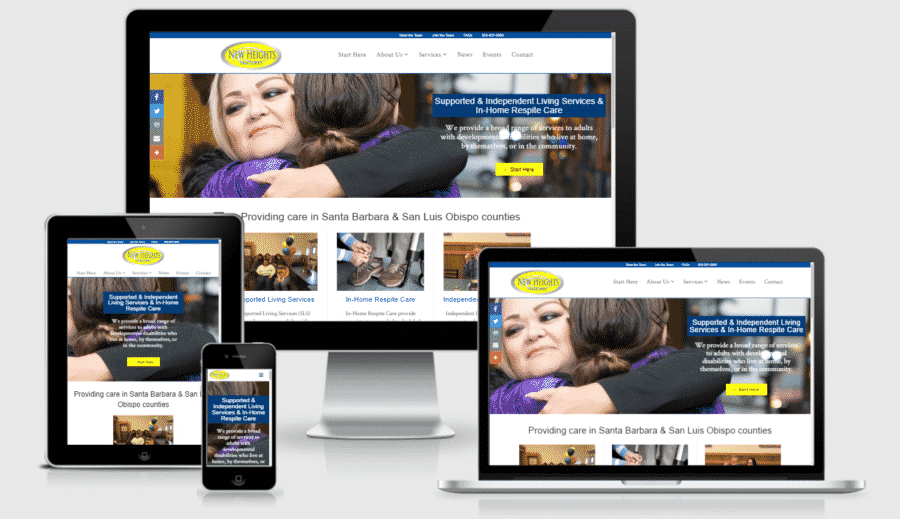 New Assisted Living Services Website for New Heights Ventures