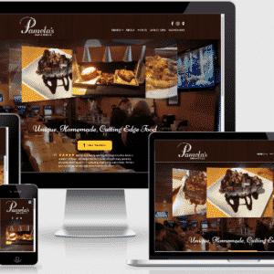 New Restaurant Website for Pamela's Bar & Grille